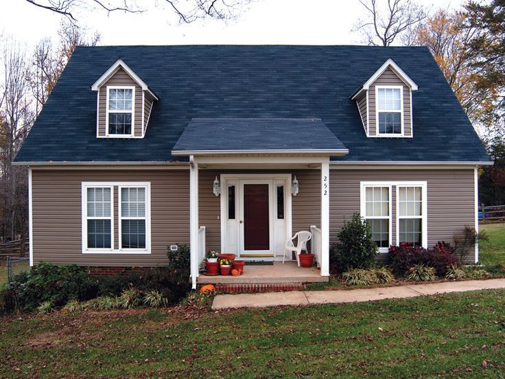 Beautiful Modern House Plans With Frontyard Landscpaing Ideas Frontyard Landscapingideas House Paint Exterior Blue Roof Home Exterior Makeover