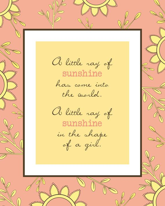 A beautiful print for a baby girls nursery