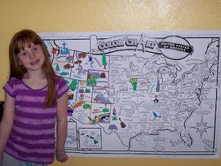 Interactive Us Map Color States Globalinterco - Us map fold