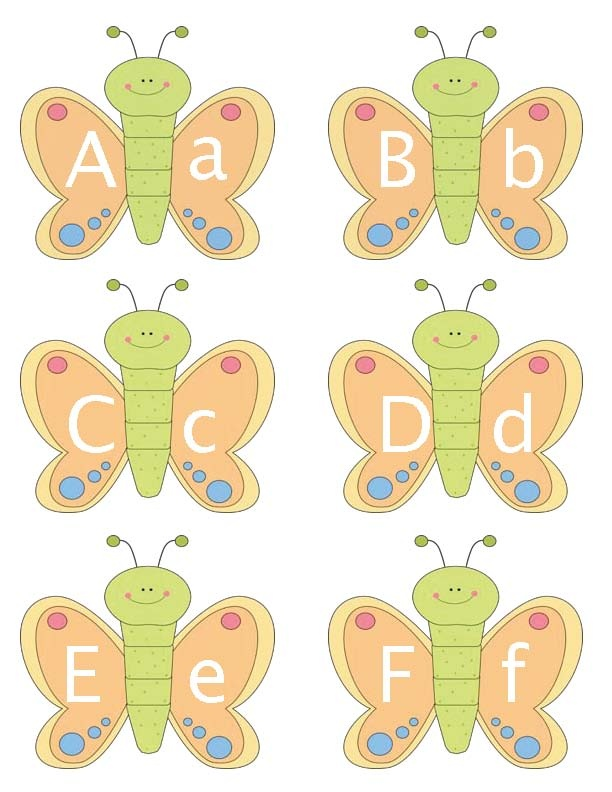 Butterfly Alphabet Cards printable