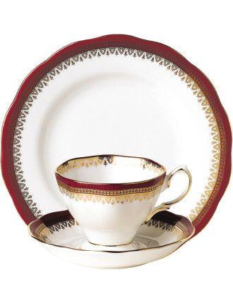 100 Years 1980s Teacup/Saucer/Plate | David Jones