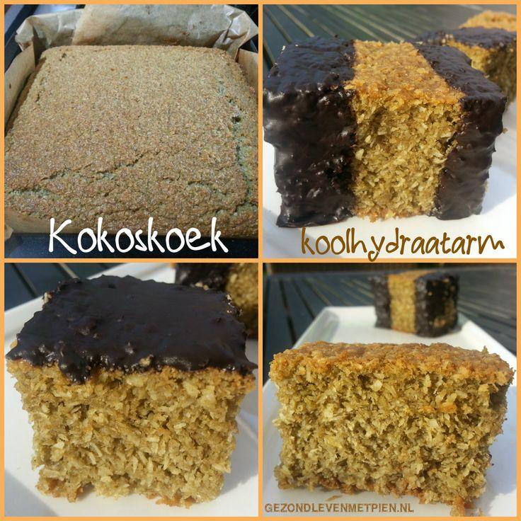 Roomboter kokoskoek, zonder suiker, zonder gluten en slechts 1,3 koolhydraat per stuk. Bekijk het recept. Zo leuk hoe gezond eten en genieten hand in hand gaan!