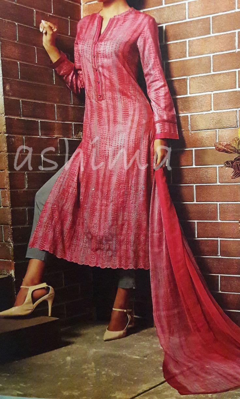 Code:2509161 - Salwar Suit in Shibori Print And Mirror Work, Price INR:3050/-