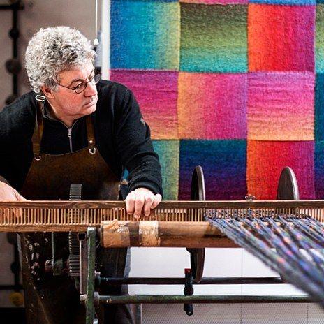 Beaming a Warp |McKernan Woollen Mills | Handmade scarves and accessories | Made in Ireland | Irish Design | Co. Clare | Weaving & Knitting