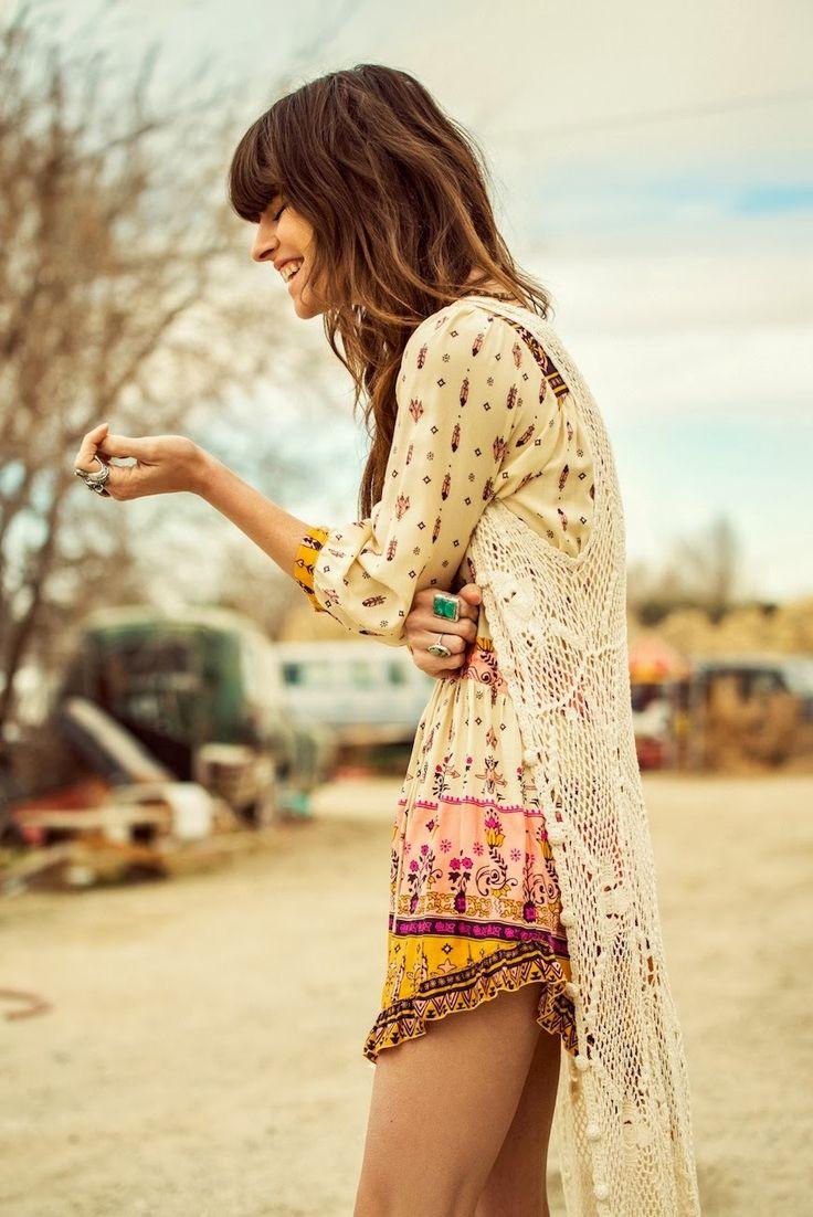Boho Gypsy style, Modern hippie fashion : For MORE Bohemian trend follow : http://www.pinterest.com/happygolicky/the-best-boho-chic-fashion-bohemian-jewelry-gypsy-/
