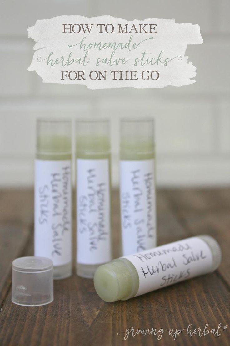 How To Make Homemade Herbal Salve Sticks For On The Go | Growing Up Herbal…
