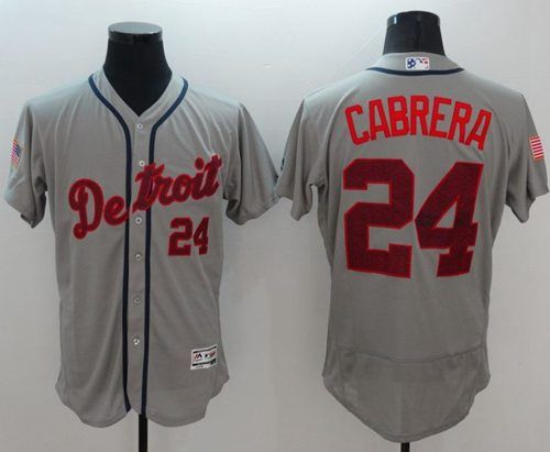 Buy Tigers 24 Miguel Cabrera Grey Fashion Stars & Stripes Flexbase Jersey  from Reliable Tigers 24 Miguel Cabrera Grey Fashion Stars & Stripes  Flexbase ...