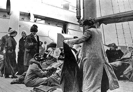 Photographies rares en Noir et Blanc des Survivants du Titanic (4)