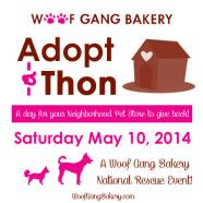 Woof Gang Bakery Launches National Pet Adoption Event to Support Animal Rescue! Saturday May 10, 2014. Help spread the word! #woofgangbakery #petrescue #adoptionevent