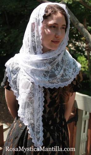 Lace+Chapel+Veil+/+Mantilla+For+Mass+/+Head+Covering+/+Catholic+Veiling+/+Church+Veil,+$36.95USD