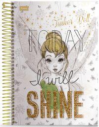 Caderno Universitário 1X1 Foroni 96 Folhas - Tinker Bell Teen - Capa 1