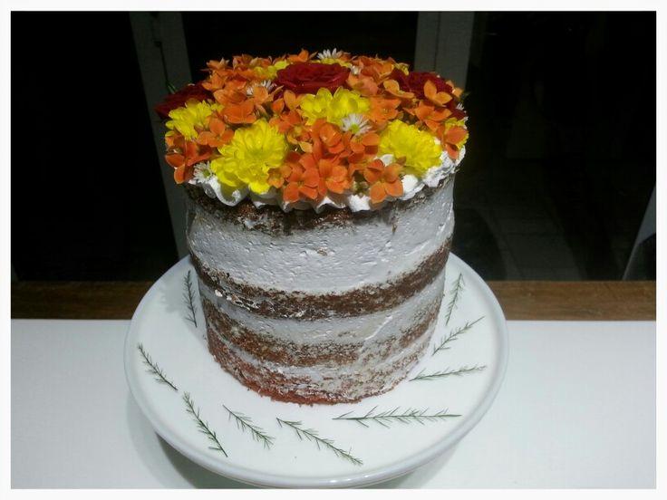 Naked cake Red velvet with Chantilly - Petit Petit by Renata Fantini