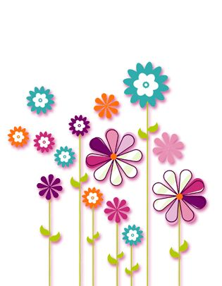 clipart flower backgrounds