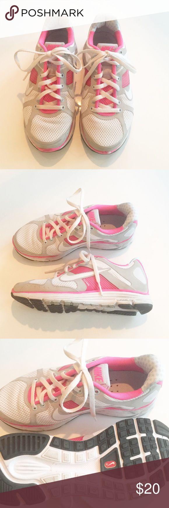 Nike Lunar Elite Nike Lunar Elite   Pink + White   Size 5   Worn a few times! Nike Shoes Athletic Shoes