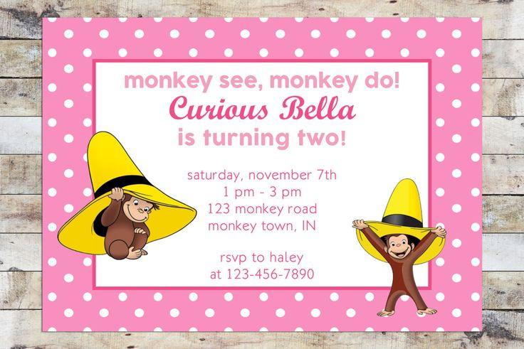 Monkey Girl Invitations was beautiful invitation design