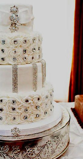 Bling Wedding Cake Only One Word Wow