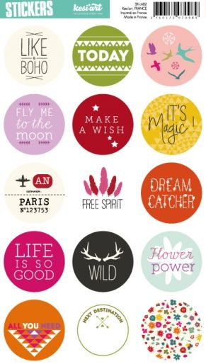 Kesi'art - ADHESIFS Stickers ronds