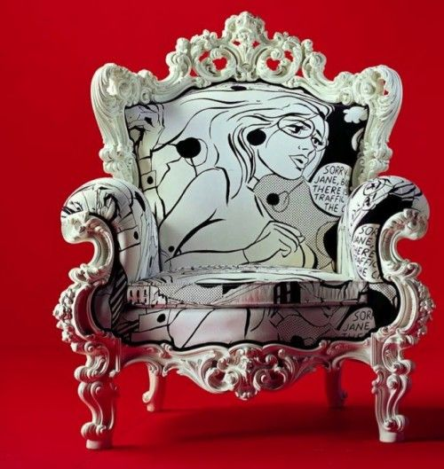 This chair is super fly and would go in my bedroom perfectly!! Giacomo Chair by Atelier NYC. Pop art meets baroque as they say.