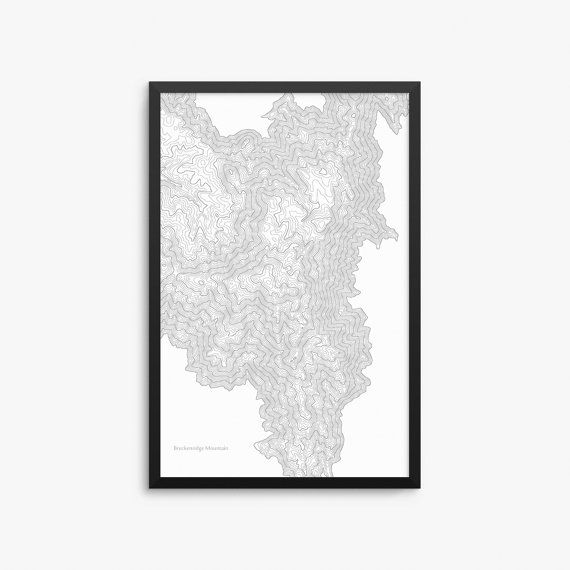 Breckenridge Mountain Poster, Breckenridge California, Breckenridge Map Art, Breckenridge Contour Map, Home Decor, Office Decor
