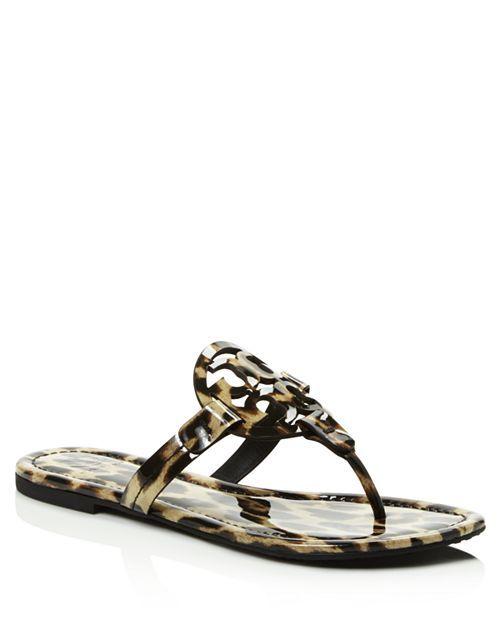 0e1aa71c6eb34 Tory Burch - Women s Miller Leopard Print Thong Sandals