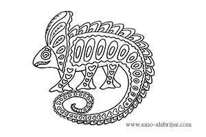 dibujos para dibujar alebrije camaleón con 6 patas