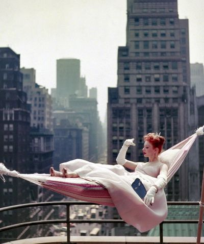 Ciao Bellissima - Vintage Glam; Gwen Verdon in a hammock, May 1953