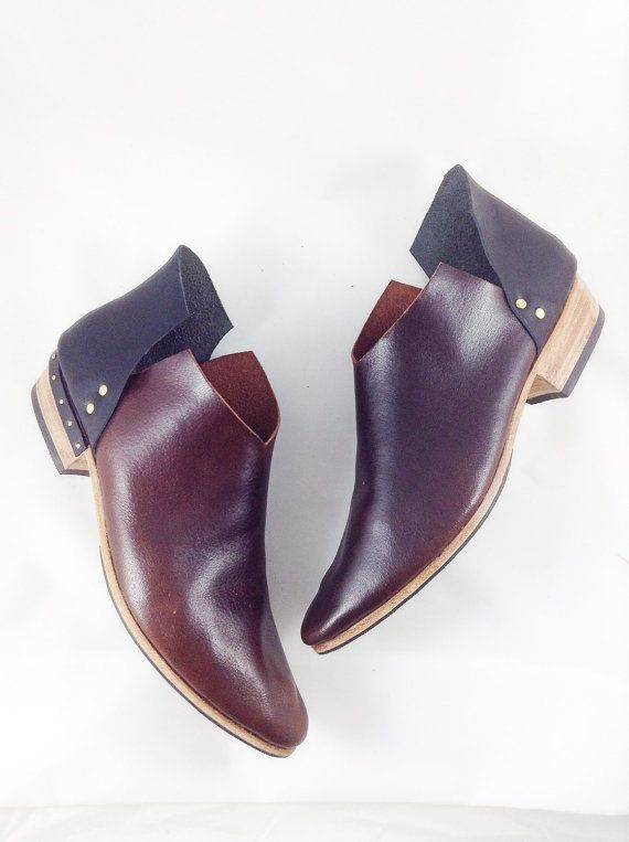 The Danthu BVT BOT Combo~ Handmade Womens Leather Shoes ~ 2 color with optional heel detail ~ petite thru large sizes available