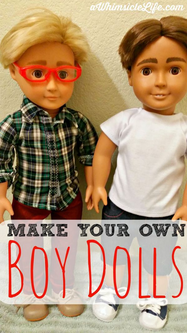 GENIUS!!  Step-by-step directions on how to turn a girl doll into one that looks like your own son.  Because boys like dolls too!