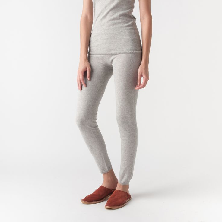 MILL MERCANTILE - Evam Eva - Cotton Cashmere Leggings in Grey