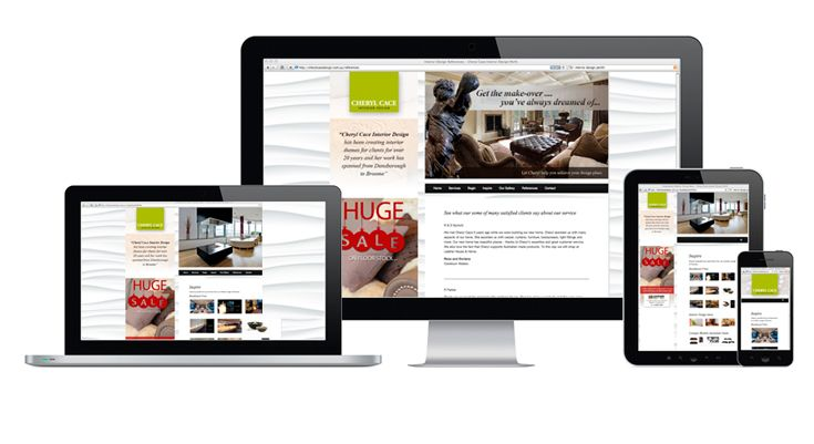 Cheryl Cace Interior Design Perth - Fully Fluid Website Design by V&P