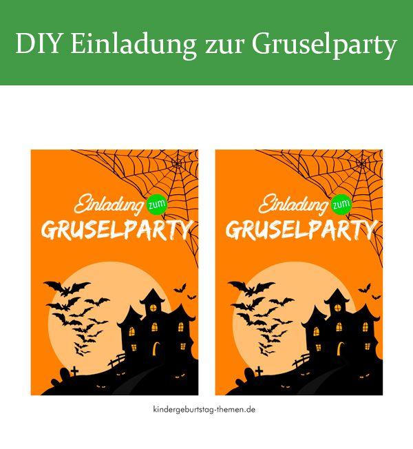 Einladung Zur Gruselparty Vorlagen Zum Ausdrucken Kostenlos Halloween Einladung Halloween Kindergeburtstag Gruselparty Kindergeburtstag