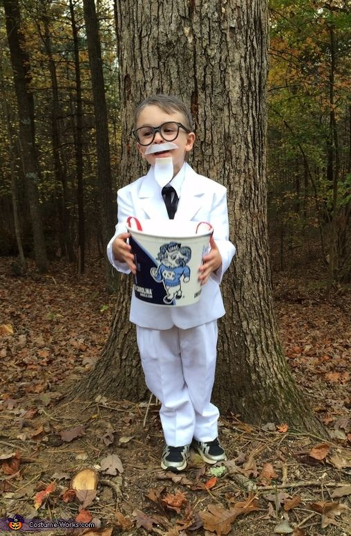 Shana: My son 4 year old Marc is dressed as the founder of KFC Colonel Sanders.
