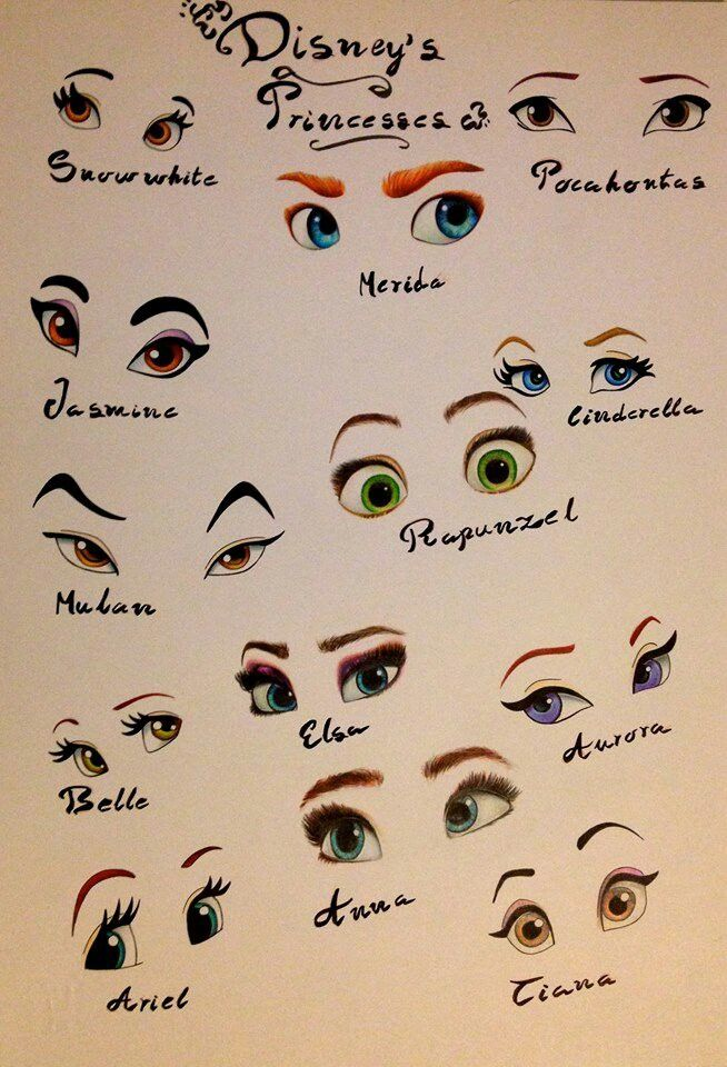 Disney Princess eyes. I love Anna and Belles. Well actually they're all really…