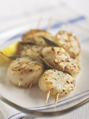 Recipes from The Nest - Grilled Sea Scallops with Bay Leaves