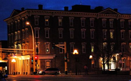St. James Hotel in Red Wing, by night!