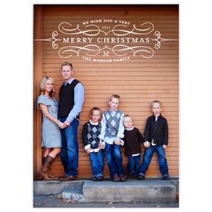 family photo pose and christmas card design