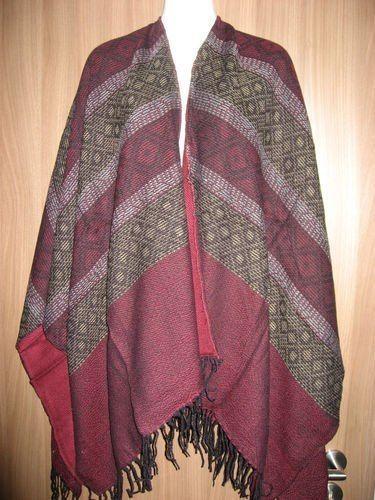 1 Ethno Poncho Cape Umhang Tuch Style Vintage Hippie Goa Kleidung Retro 1