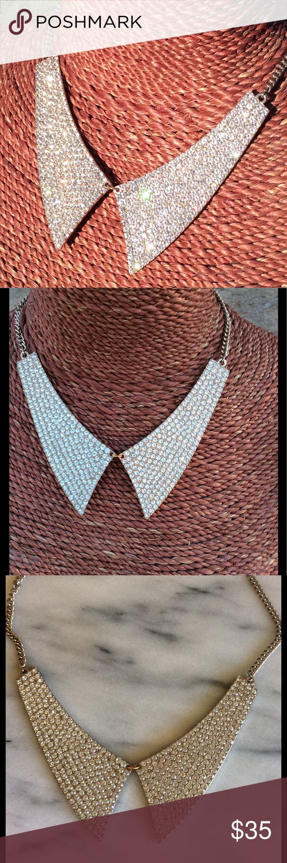 Gorgeous Faux Diamond studded collar necklace Collar necklace with faux diamonds for that special occasion Jewelry Necklaces