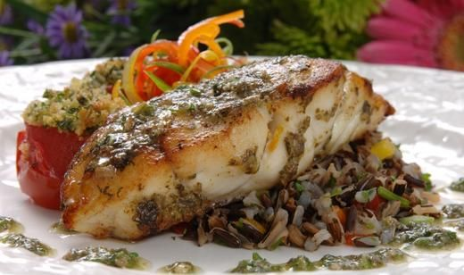 Herb Crusted Baked Grouper