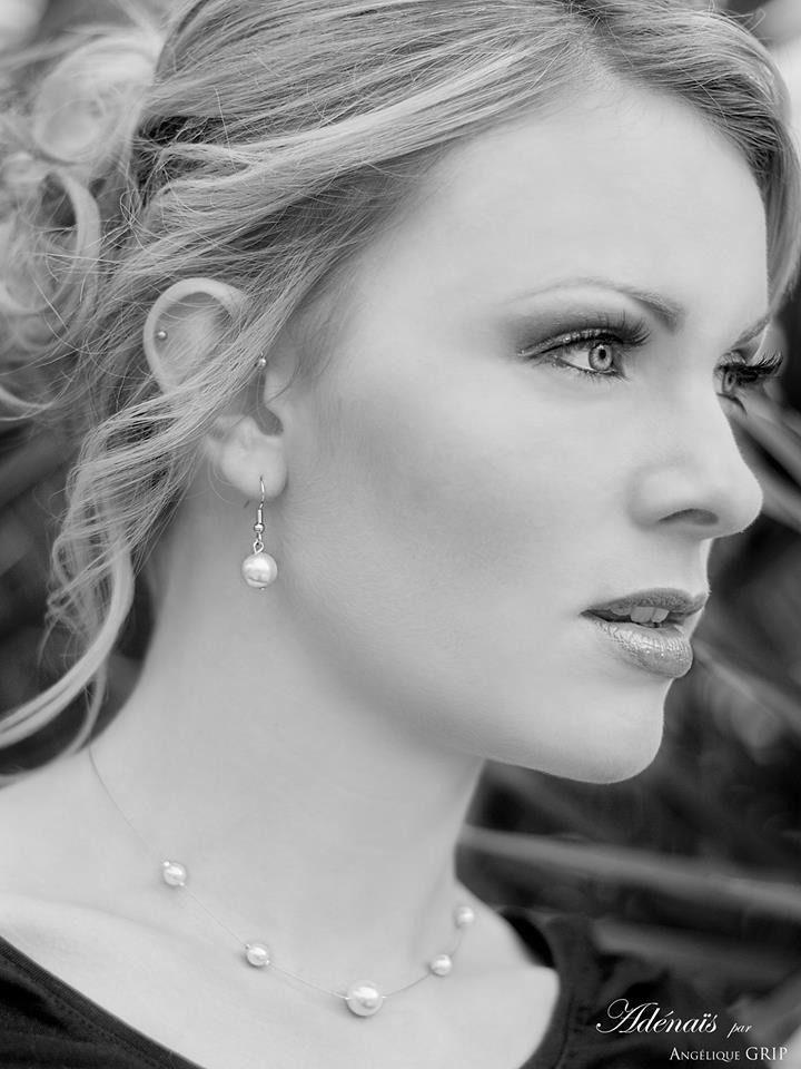 ♥ Tatiana - Collier perles nacrées blanches - MARIAGE CADEAU ♥ : Collier par adenais
