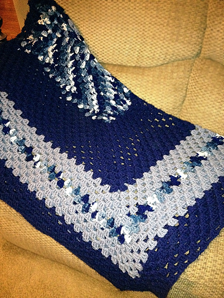 1000 Images About Crochet Baby Blankets Blue On Pinterest