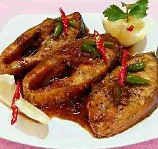 Resep Ikan Kakap Goreng saus Lada Hitam