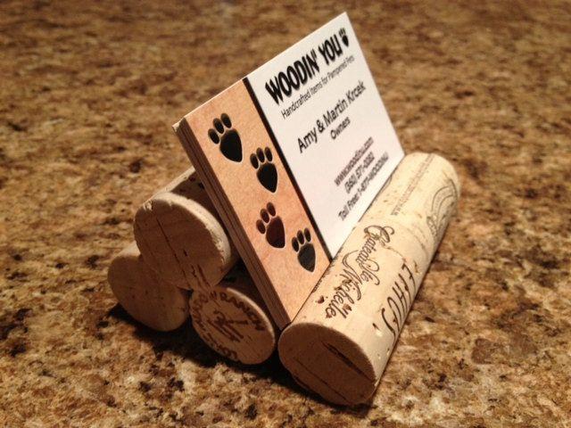 Wine Cork Business Card Holder -