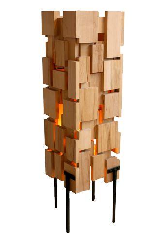 luminaire en bois recyclé