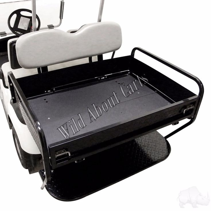 Yamaha G-14-G22 Rear Seat Box Kit for Yamaha Golf Cart Black Cushion #Yamaha