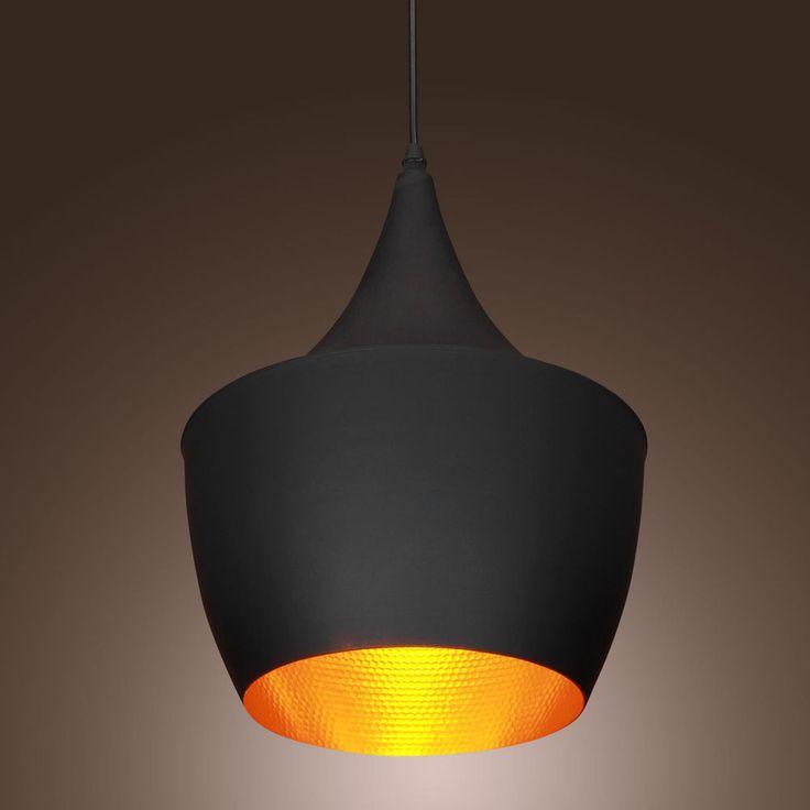 Vintage Pendant Light Tom Dixon Design Black Ceiling Fixtures Chandeliers Lamp #ouku #RetroModernComtemporary