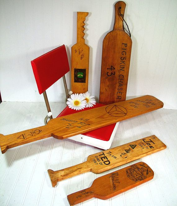 Collection of Vintage Fraternity Hazing Paddles  5 by DivineOrders