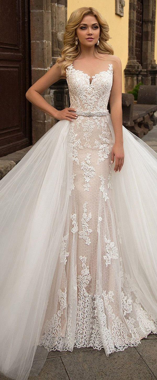 Alluring Tulle & Lace Sheer Jewel Neckline 20 In 20 Wedding Dress ...