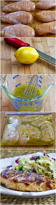 Very Greek Grilled Chicken- awesome marinade that makes this chicken delectable! {KalynsKitchen} #myhttender #BBQ