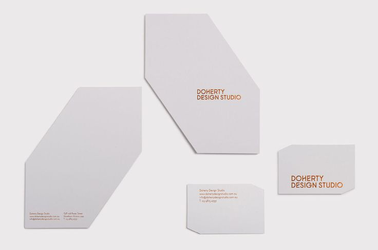 Doherty Design Studio business cards with copper foil print finish designed by A Friend of Mine.